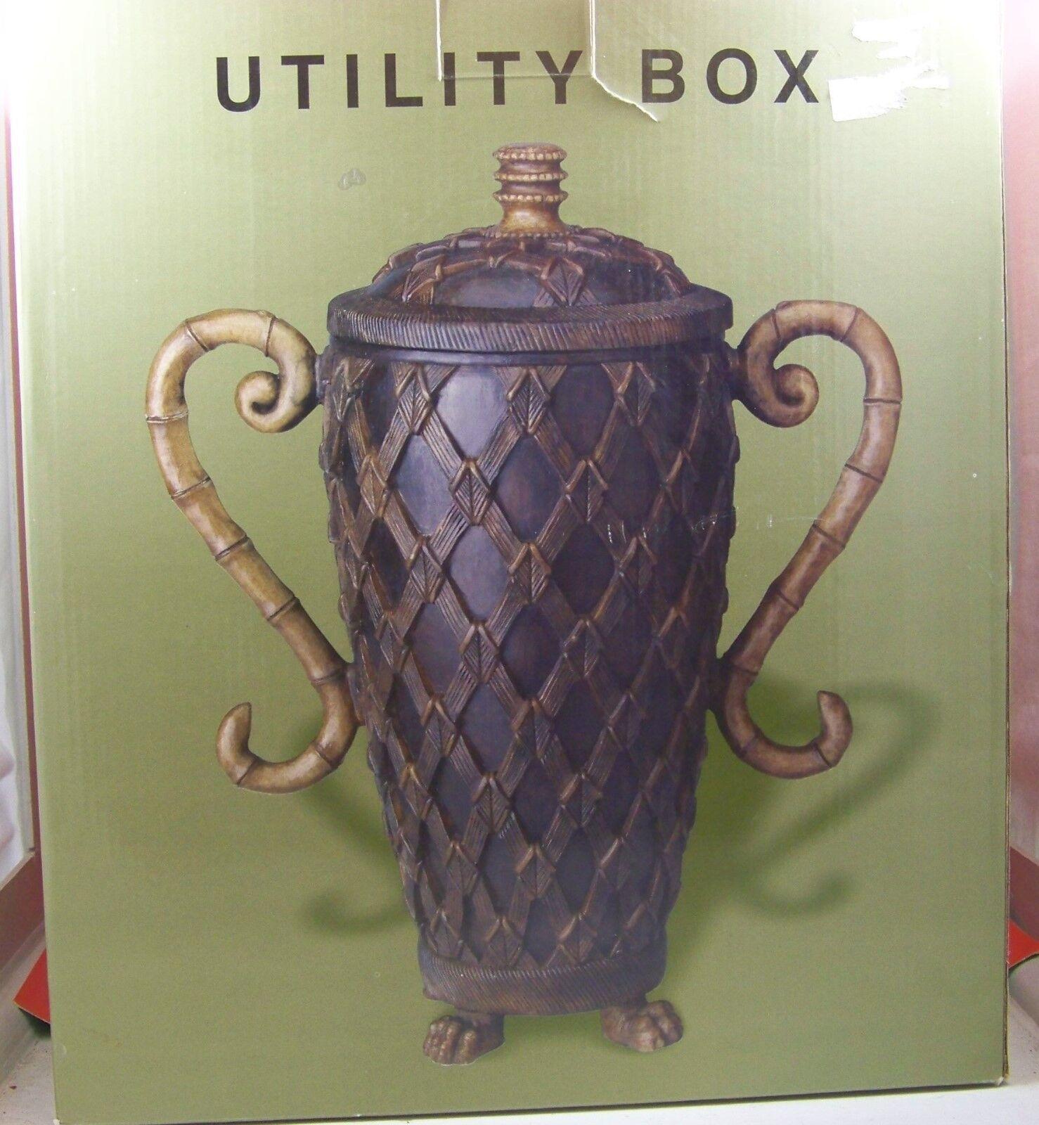 Decorative Storage Urn & Lid on claw foot Base