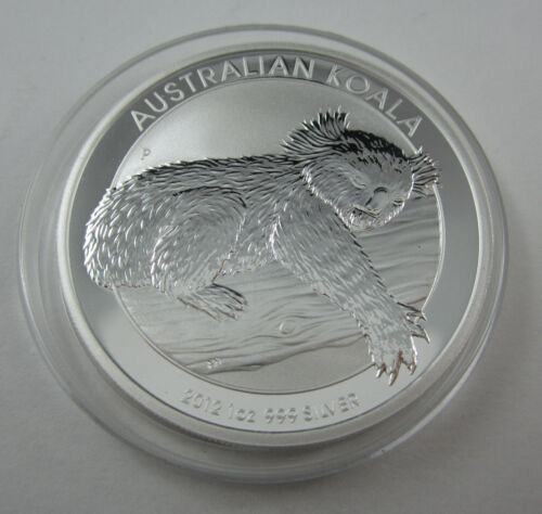 2012 Koala one ounce silver coin in clean capsule from Perth Mint TOP COND!