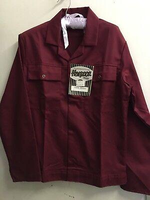 """2019 Nuovo Stile Vintage 60-70's """"harpoon"""" Poly/cotone Workwear Giacca 40"""" Nuovo Vecchio Stock Etichette-mostra Il Titolo Originale"""