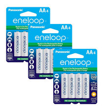 Panasonic Eneloop AA 12 Rechargeable Batteries up to 2100 Charges, 2000 mAH