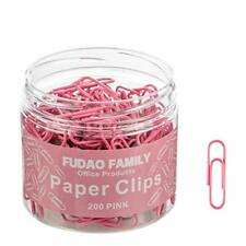 Small Paper Clips Pink Coated 200 Pcs Paper Clip 11 Inch