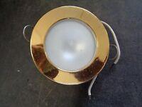 Gold Overhead Led Light - 3 Diameter 2 3/8 Cut Out 12vdc
