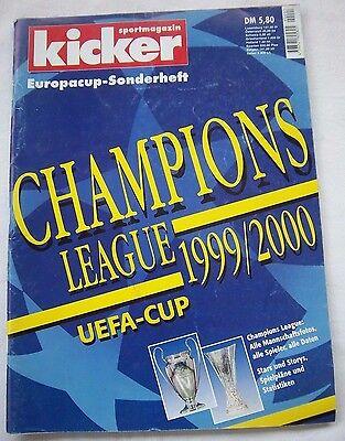 Orig.prg / Kicker Sonderheft Champions League 1999/00 // Alle Daten, Spieler,. Gut FüR Antipyretika Und Hals-Schnuller