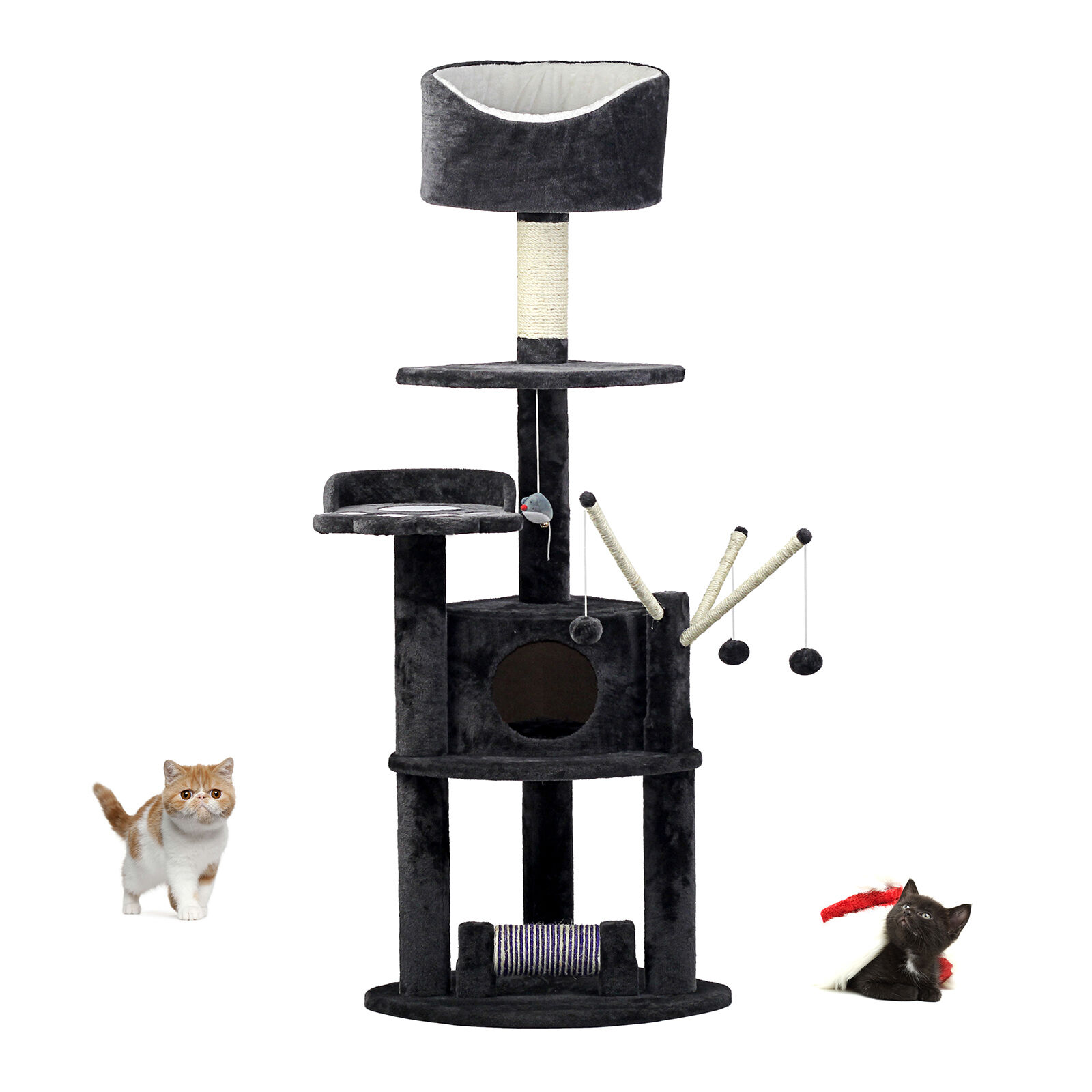 163cm Katzenbaum Cosy Pet Kratzbaum Heavy Duty Kitten Activity Center