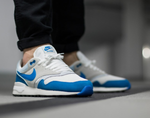Details about Nike Air Odyssey Trainers Blue White Sneakers 652989 404 Suede Mesh Retro New