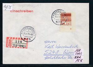 """10835) Spécial R-mot Kaiserslautern Spa Ihaga, Lettre K2 11.7.71 Coin Fn"""" 2""""-afficher Le Titre D'origine Demande DéPassant L'Offre"""
