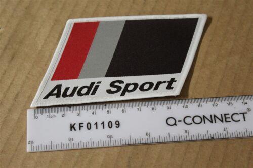 Audi Sport 1980s sew on fabric badge 100mm x 70mm 92591 New genuine Audi part