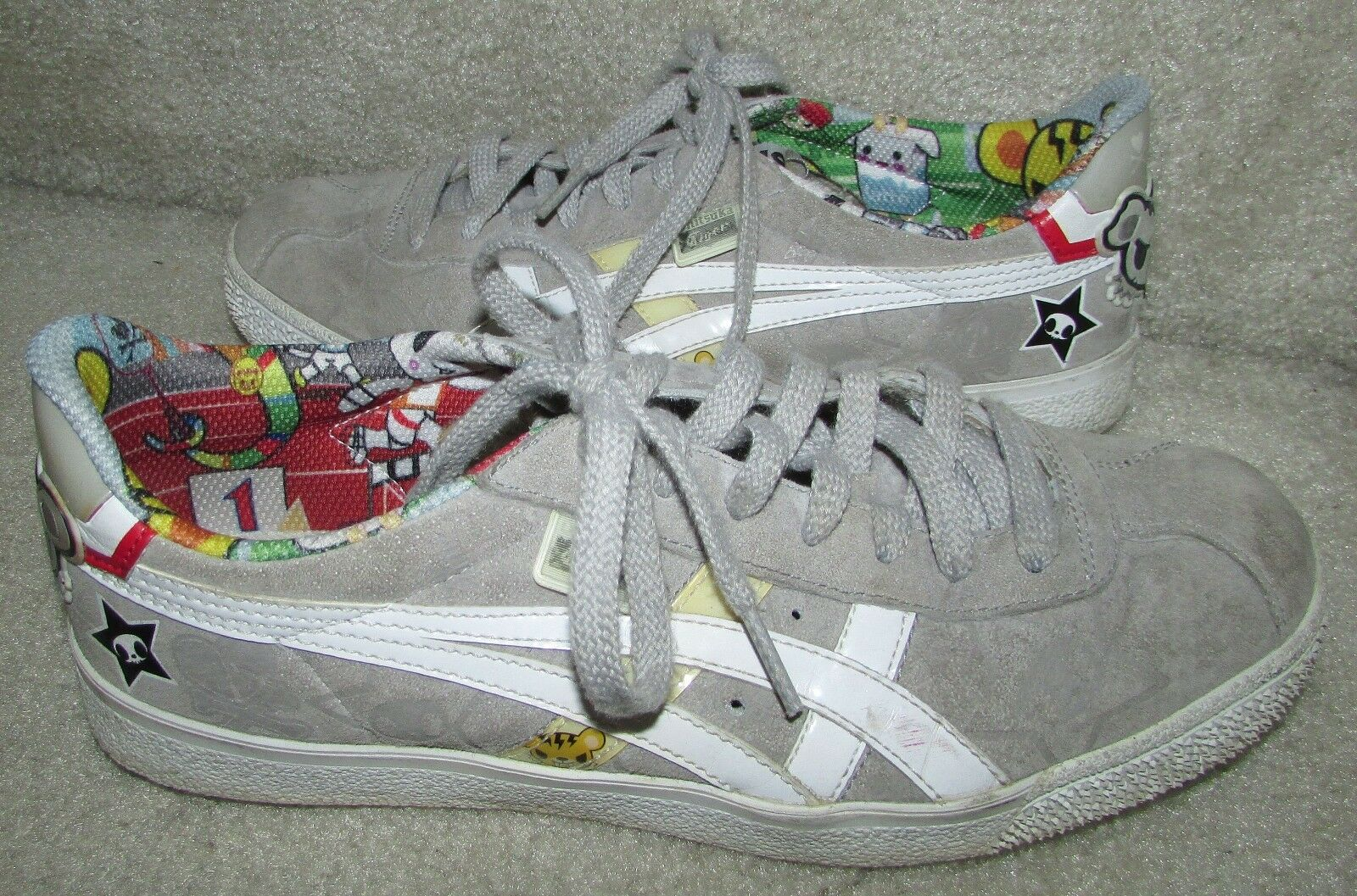 Onitsuka Tiger Schuhes Sneakers D935L Größe 6 Tokidoki Gray Suede By Asics Tokidoki 6 0a13a9