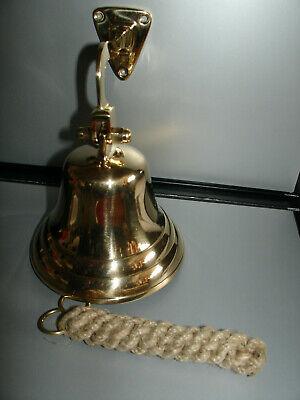 Schiffsglocke Glocke Messing 10 Cm Mit Halter Und Glockenbänsel Neu ! Klingel
