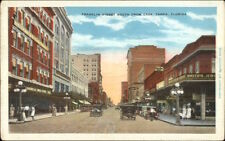 Tampa FL Franklin St. South From Cass c1920 Postcard