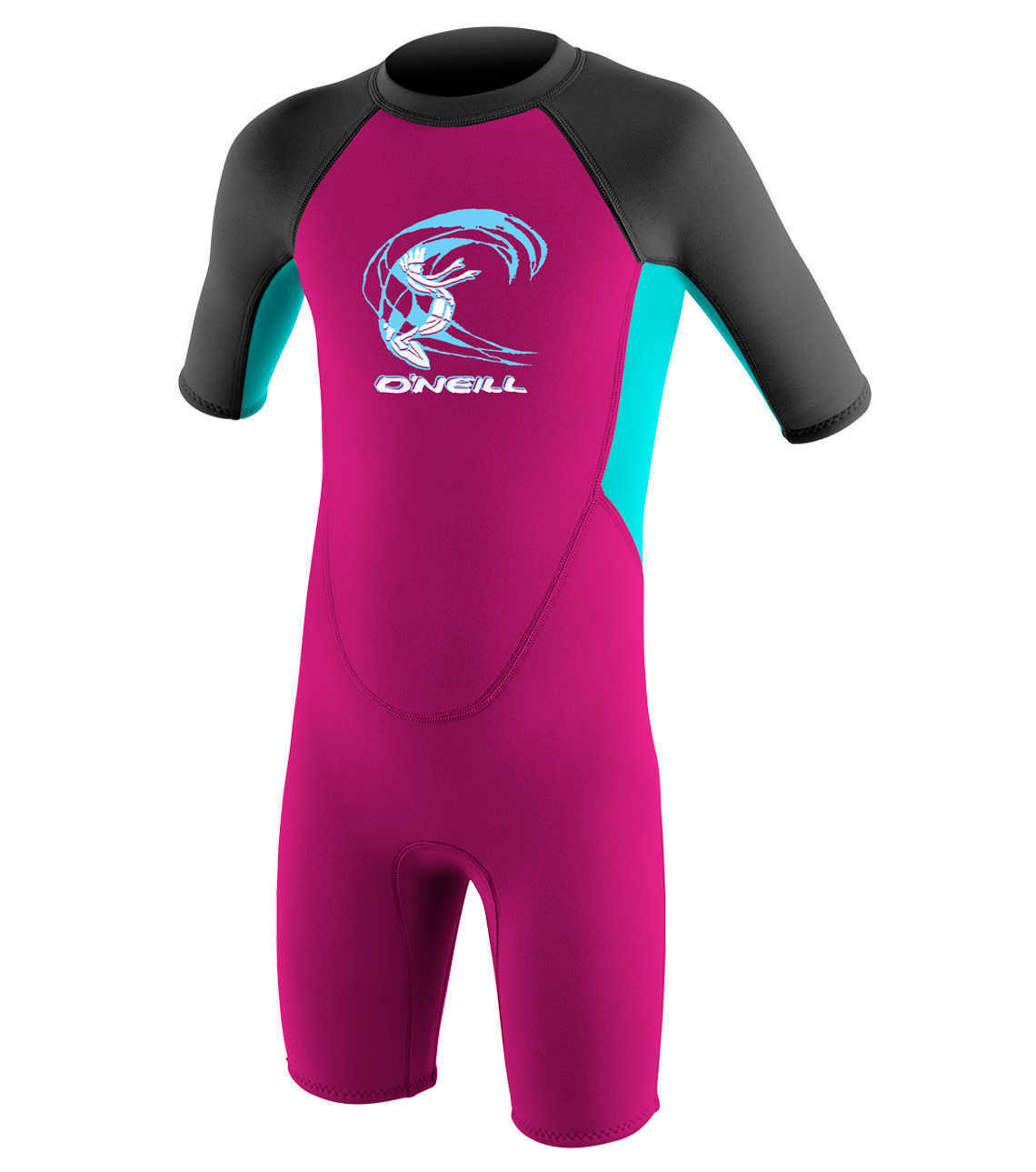 O'Neill Toddlers 2mm Reactor Girls Shorty Wetsuit 2018