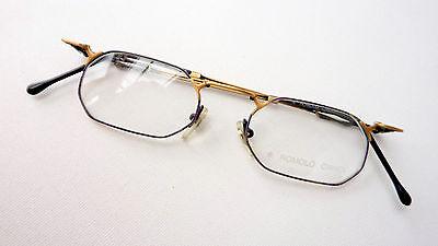 Appena Occhiali Telaio Look Antico Piccole Bicchieri Rettangolare Decorato By Cianci Metallo Size S-mostra Il Titolo Originale