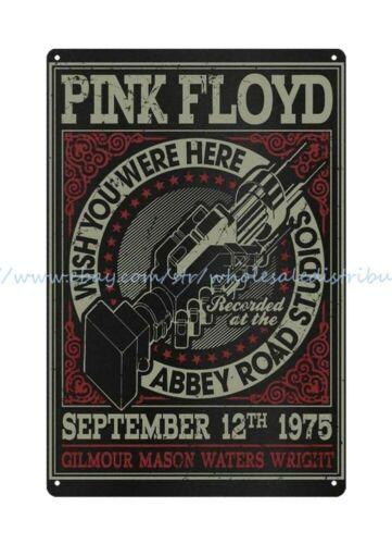 men cave metal wall art Pink Floyd English rock band metal tin sign