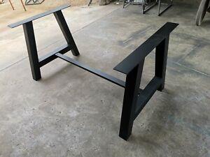 Gambe Per Tavolo In Ferro.Dettagli Su Base Gambe Tavolo Ferro Industrial Design Colore Nero Opaco