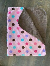 Garanimals Pink Brown Polka Dot Baby Blanket Sherpa Aqua Purple Security Lovey