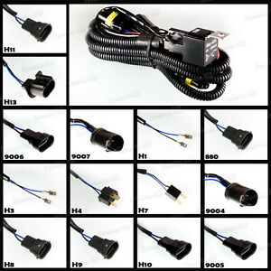 relay wiring harness hid xenon h1 h3 h4 h7 h10 h11 h13 880 9004 image is loading relay wiring harness hid xenon h1 h3 h4
