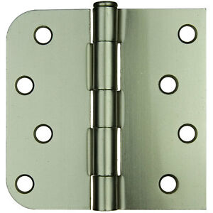 Satin Nickel Door Hinge 4 Quot With 5 8 Quot Radius X Square Corner