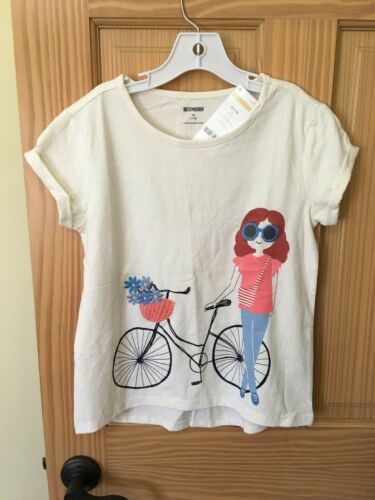 NWT Gymboree Flowers Girl Bicycle Tee Shirt Top Girls Outlet Cream