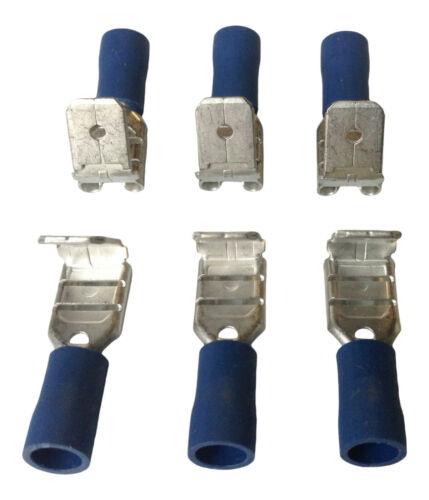 Blue Piggyback crimp wire connector crimp electrical cable wire terminals