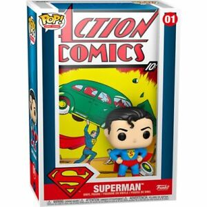 "DC Comics Superman Action Comic 3.75"" Funko Pop! Comic Covers Vinyl Toy Figure"