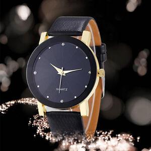 Luxus-Einfach-Stil-Herren-Armbanduhren-Uhr-Leder-Mode-Business-Quarz-WristWatch