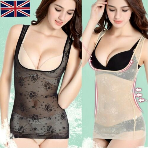 Ladies Womens Pull You In Hold Me In Firm Control Vest Tummy Trimmer Cami Shaper