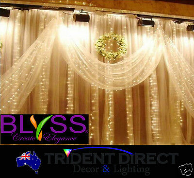 BLYSS® LED Curtain Fairy Lights 3Mx3M For Wedding Backdrops