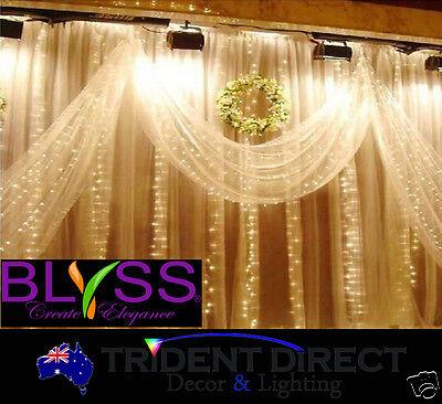 BLYSS® LED Curtain Fairy Lights 3Mx3M For Wedding Backdrops