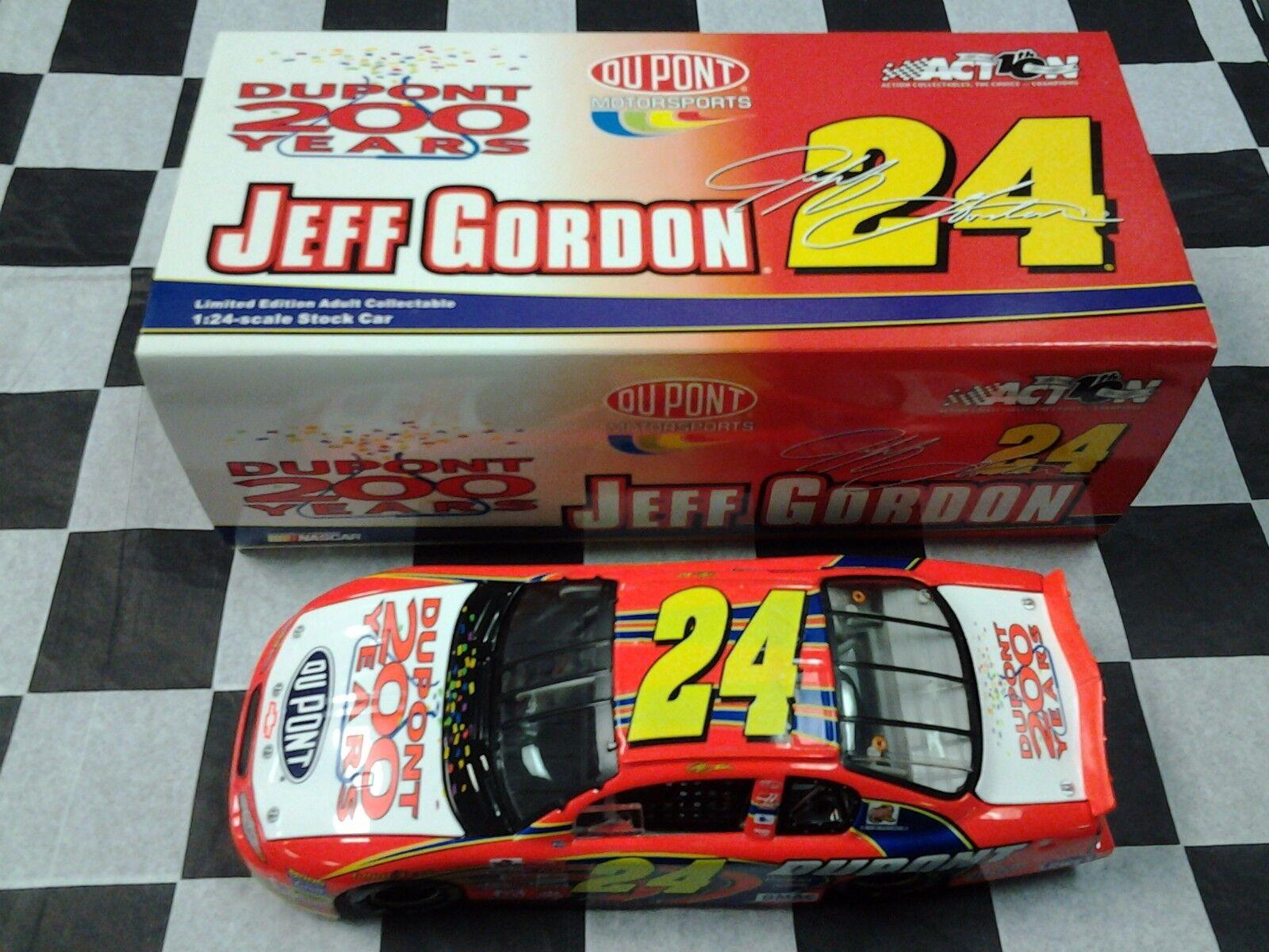 Jeff Gordon  24 Dupont 200th anniversaire 2002  MONTE voitureLO 1 24 Action NASvoiture  livraison et retours gratuits