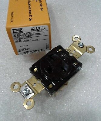 HBL5278CCN HUBBELL RECEPTACLE 15AMP 125V 2P 3 WIRE GROUNDING NEW!!