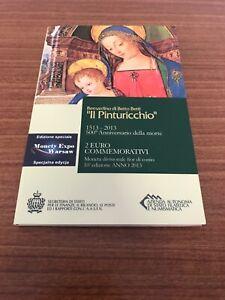 Rare Coffret Edition Speciale VARSOVIE !!! 2 euro Saint Marin 2013 Pinturicchio