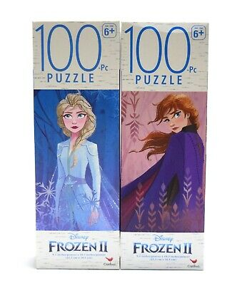 """Lot of 2 Frozen II Puzzle 1 One 100 pieces 9.1/"""" x 10.3/"""" Brand New In Box!"""
