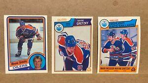 Lot-of-3-OPC-O-Pee-Chee-1980-039-s-Wayne-Gretzky-cards-1983-84-23-29-1984-85-243
