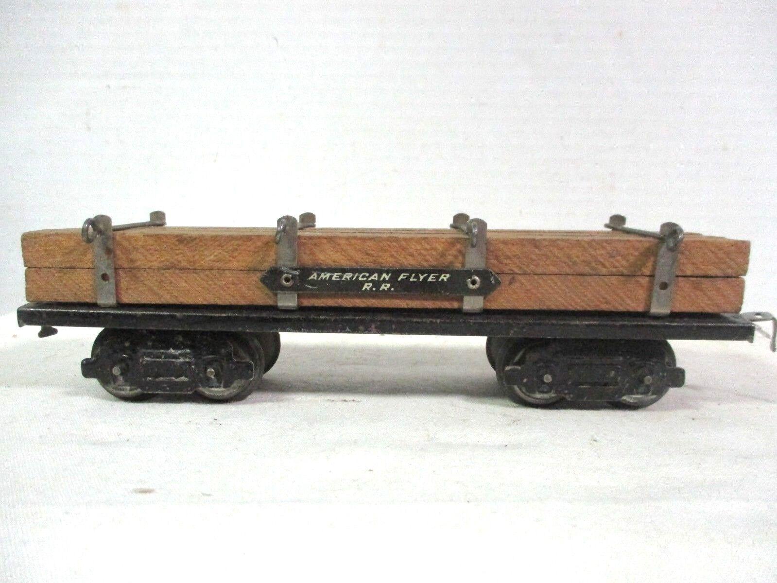 American Flyer Early Flat Car Vintage Railway Train Engine Freight