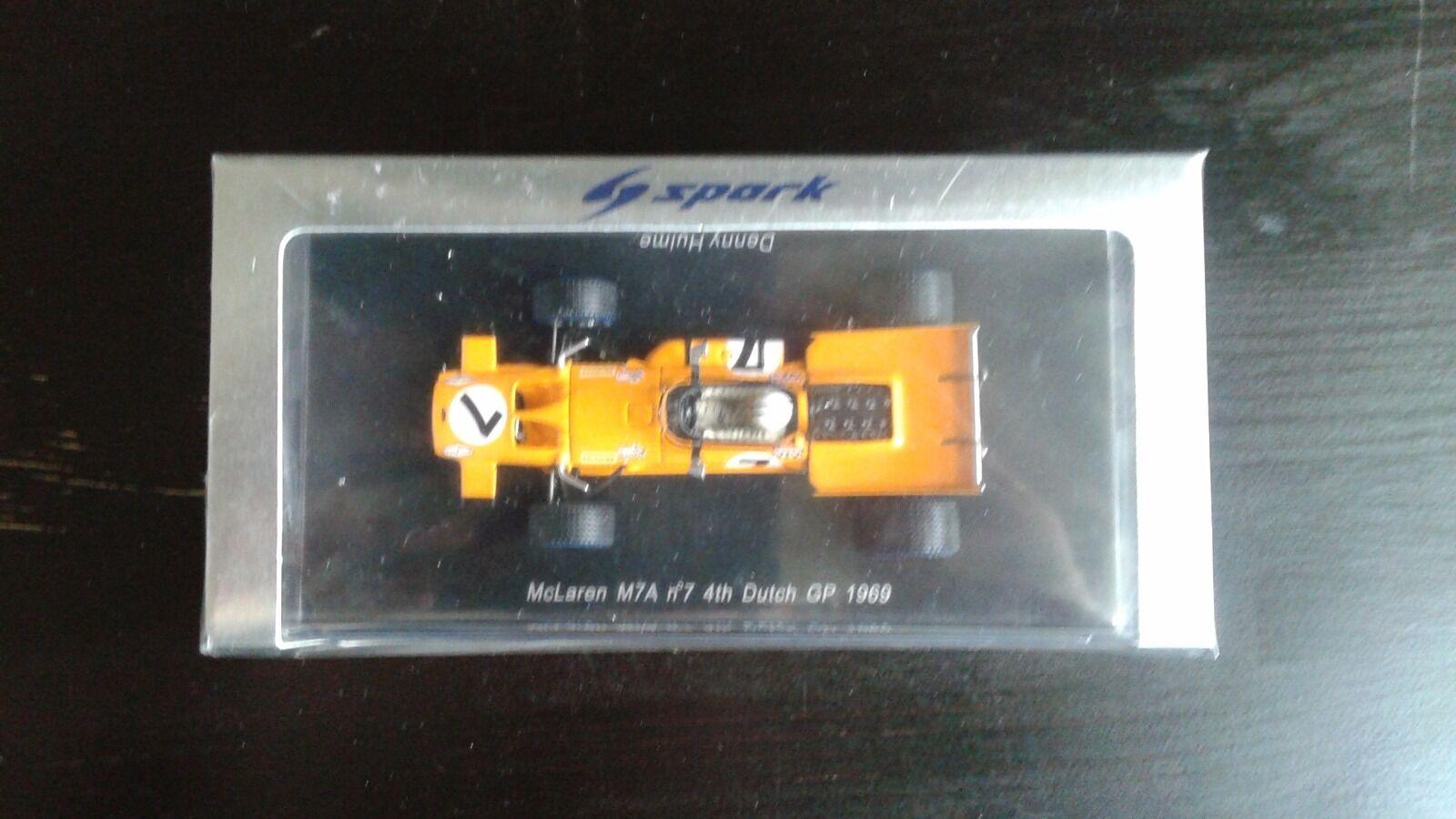 100% autentico McLaren M7A n°7 4th 4th 4th Dutch GP 1969 Denny Hulme 1 43  cómodo