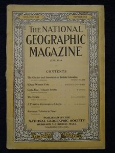 1910-06-June-National-Geographic-PEARY-BC-Canada-GLACIERS-Finland-COSTA-RICA-Ads