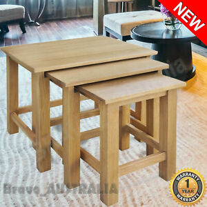 Nested-Coffee-Tables-3-Set-Side-Nest-of-Table-Living-Room-Nesting-Oak-Wood