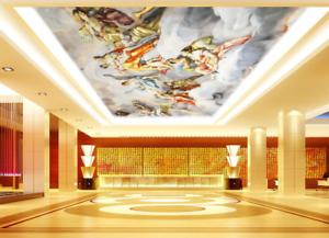 3D Angel Girls 4 Ceiling WallPaper Murals Wall Print Decal Deco AJ WALLPAPER UK