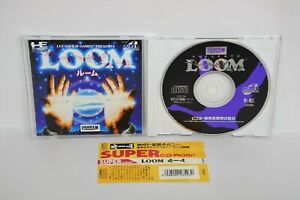 PC-Engine-SCD-LOOM-with-SPINE-PCE-Grafx-Japan-Game-pe
