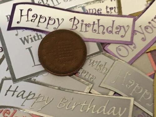 75 x Adorno De Cumpleaños Mixtas//elaboración de Tarjetas//Sentimientos//CLEAROUT//Lucky Dip Bolsa