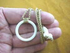 IBP-53 MAORI style Circle of life FISH HOOK aceh bovine bone PENDANT Necklace