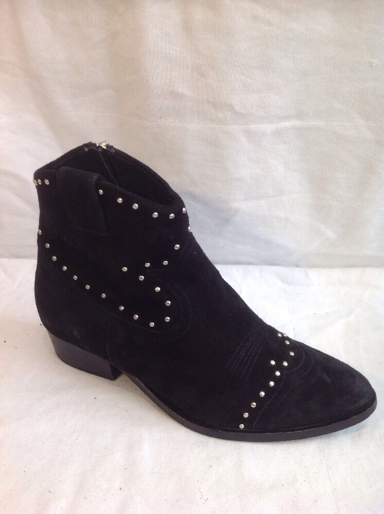 Office London Black Ankle Suede Boots Size 38