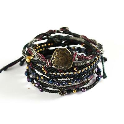 Wakami/'s Unisex Earth Bracelet Earth With 7 Strands Made in Guatemala WA0389-10