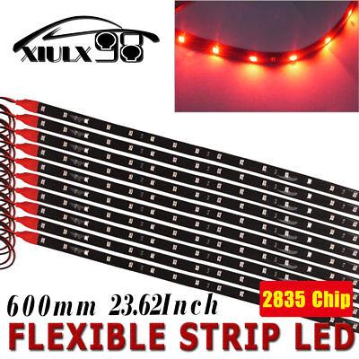 "10x 24/""//60CM Blue Car Motorcycle Boat Flexible LED Light Strip Waterproof DC 12V"