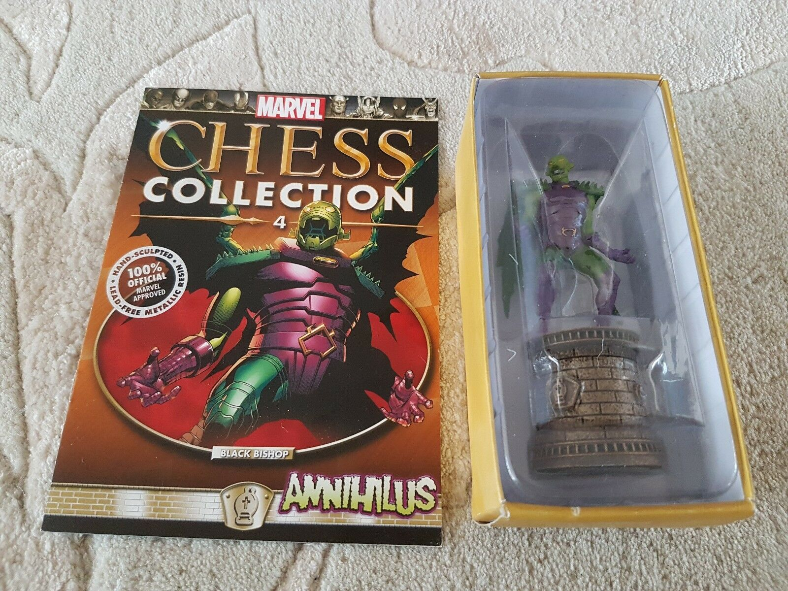 Eaglemoss Marvel Chess Special Limited Edition Fantastic 4 ANNIHILUS + Mag