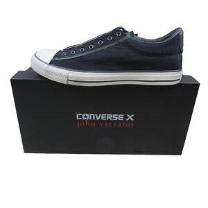 Converse-X-John-Varvatos-Vintage-Slip-On-Ox-Size-9-Mens-Black-Beluga-153903C