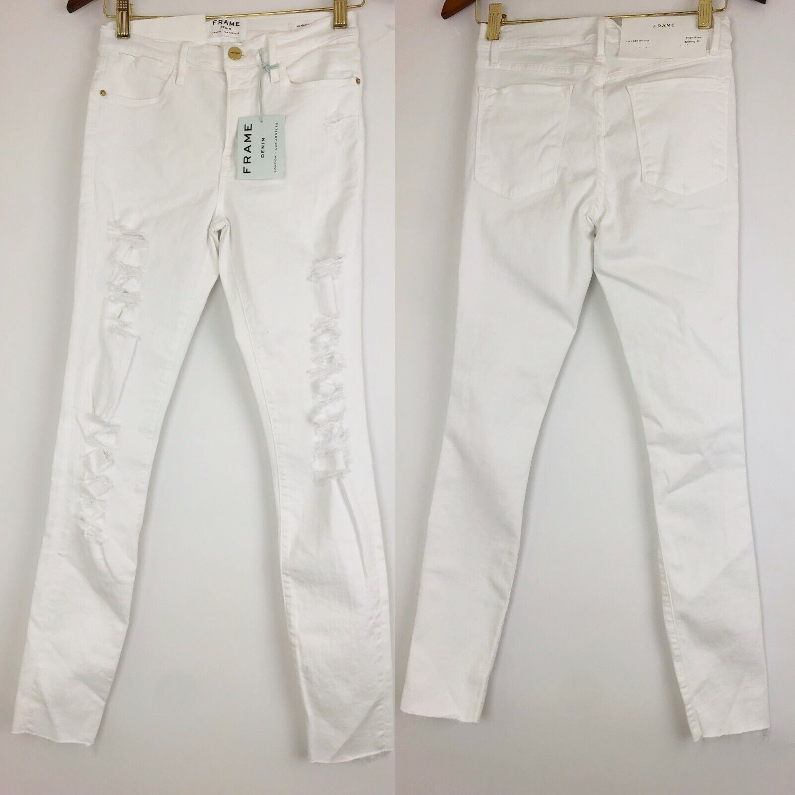 199 Frame Denim Le color High Waist Skinny Jeans Sz 28