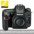 Nikon D750 24.3 MP Full Frame Digital SLR Camera - Black (Body Only)