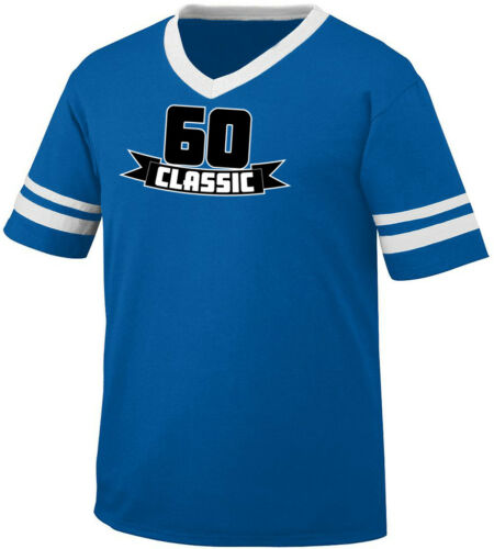 60 Classic Sixty Birthday Age Years Old Party Turning Am Men/'s V-Neck Ringer Tee