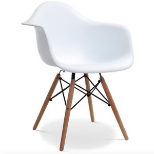 design eiffel stuhl st hle esszimmerstuhl k chenstuhl b rostuhl massiv holz wei ebay. Black Bedroom Furniture Sets. Home Design Ideas